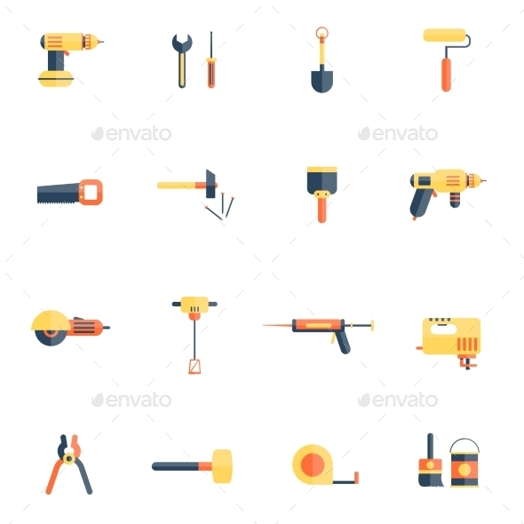 GraphicRiver Home Repair Tools Icon Flat 10714923