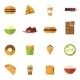 Fast Food Icons Set - GraphicRiver Item for Sale