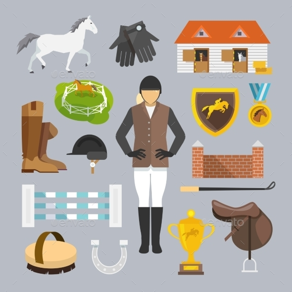 GraphicRiver Jockey Icons Flat 10714958