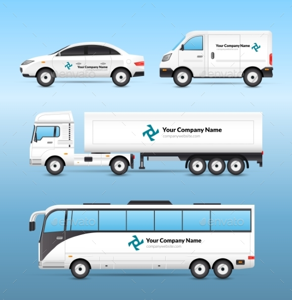 GraphicRiver Transport Advertisement Set 10715132