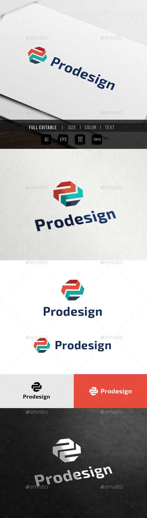 GraphicRiver Abstract Logo Letter p d 10715250