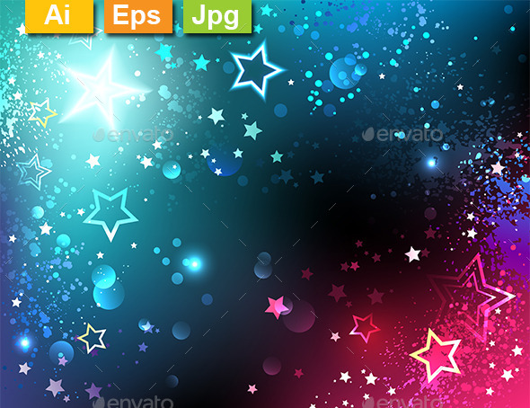 GraphicRiver Bright Background with Stars 10715290