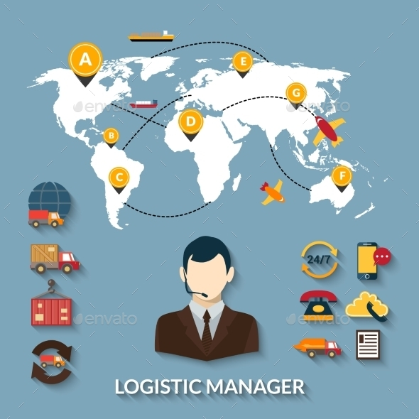 GraphicRiver Logistic Manager Infographics 10715361