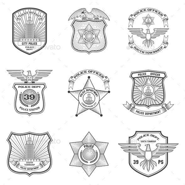 GraphicRiver Police Emblems Set 10715371