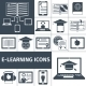 E-learning Icon Black Set - GraphicRiver Item for Sale