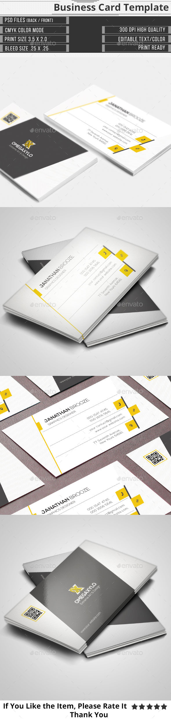GraphicRiver Corporate Business Card 10715395
