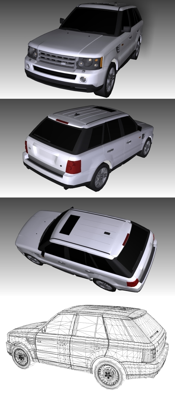 3DOcean Low Poly Range Rover 10715404