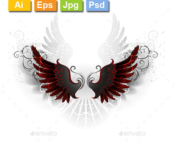 GraphicRiver Black Wings 10715410