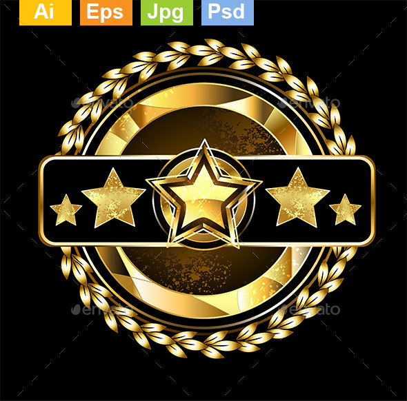 GraphicRiver Emblem with Golden Stars 10715440