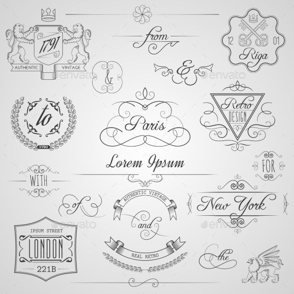 GraphicRiver Calligraphic Design Elements 10715477