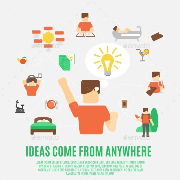 GraphicRiver Ideas Concept Flat 10715487