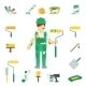 House Painter Flat Set - GraphicRiver Item for Sale