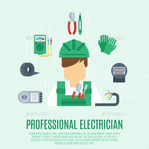 GraphicRiver Professional Electrician Concept 10715512