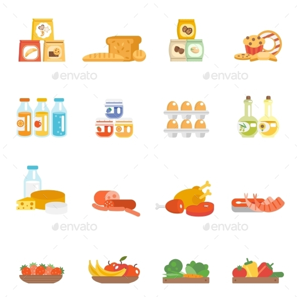 GraphicRiver Supermarket Food Set 10715535