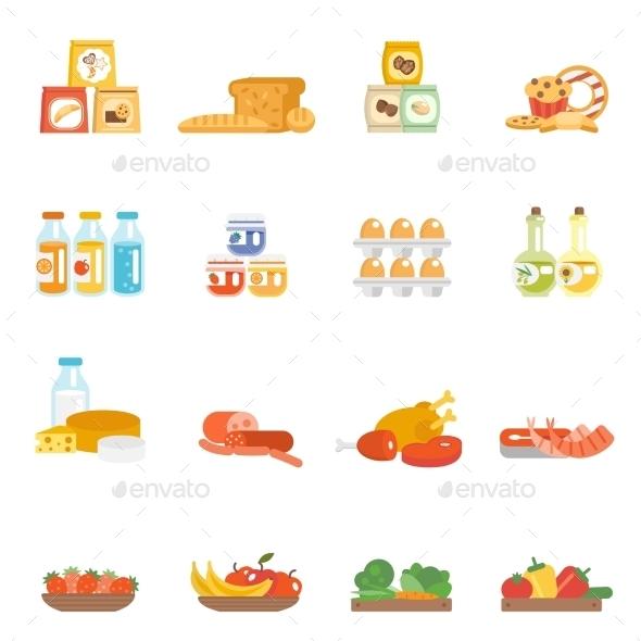 GraphicRiver Supermarket Food Set 10715535
