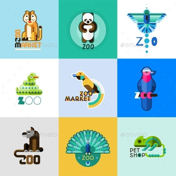 GraphicRiver Zoo Set 10715538