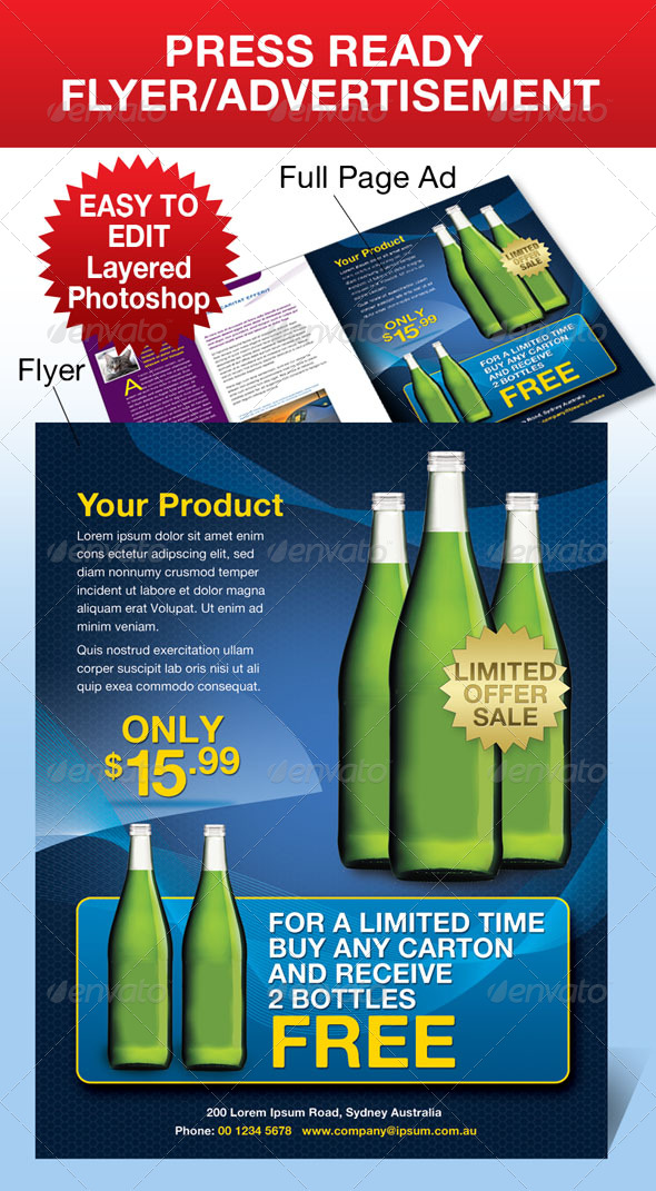 GraphicRiver Advertisement Flyer 133936