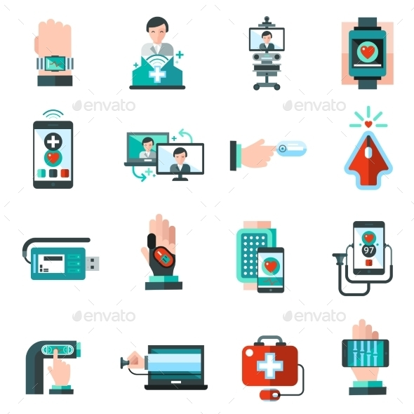 GraphicRiver Digital Medicine Icons 10715545