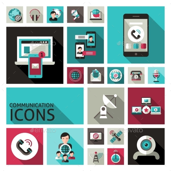 GraphicRiver Communication Icons Set 10715548
