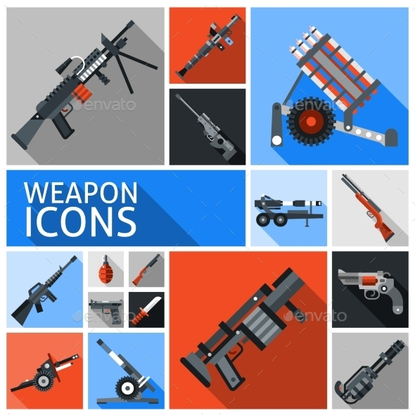 GraphicRiver Weapon Icons Set 10715554