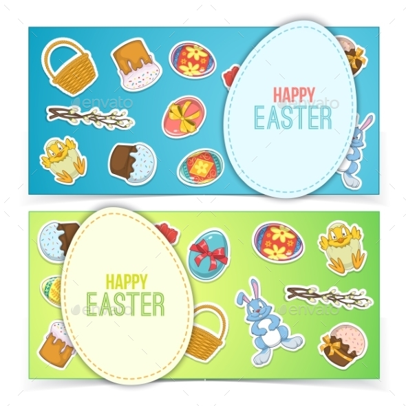 GraphicRiver Easter Banners 10715597