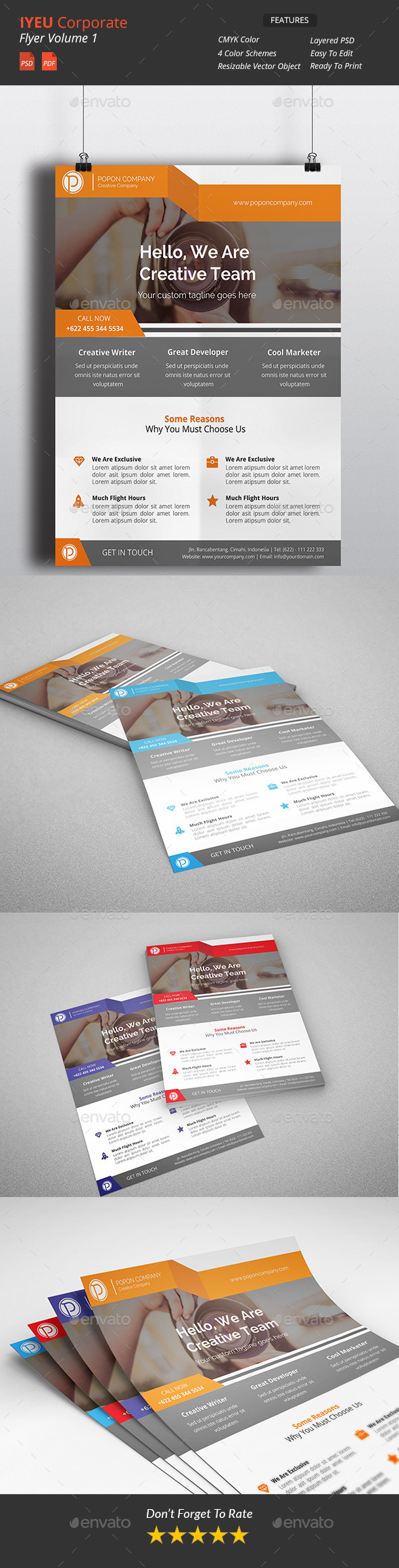 GraphicRiver Iyeu Clean Corporate Flyer 10715624