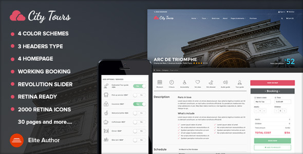 ThemeForest CityTours City Tours Tour Tickets and Guides 10715647