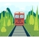 Railroad in the Forest - GraphicRiver Item for Sale