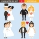 Wedding Characters Set - GraphicRiver Item for Sale