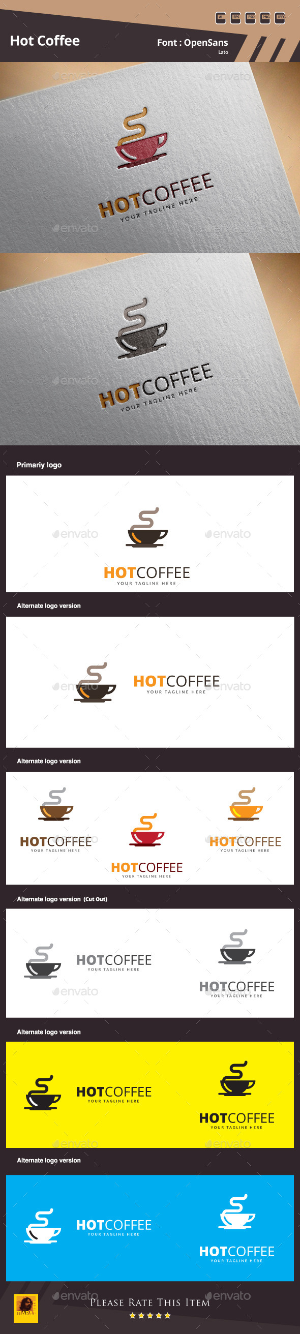 GraphicRiver Hot Coffee Logo Template 10715797