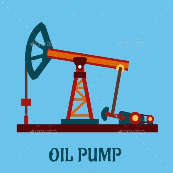 GraphicRiver Oil Pump Icon 10715820