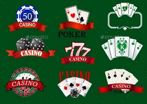 GraphicRiver Casino and Gambling Icons Set 10715822