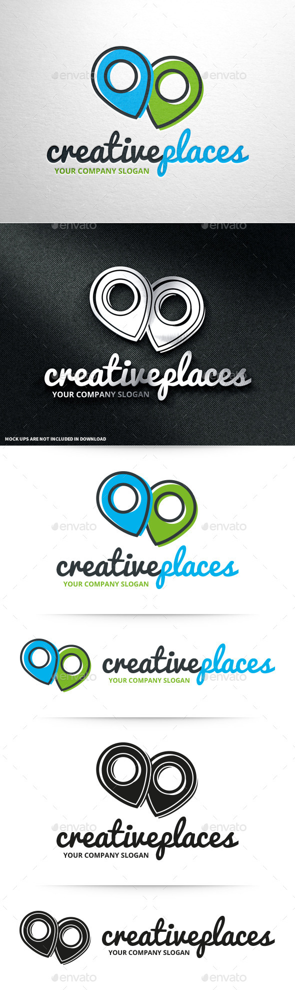 GraphicRiver Creative Places Logo Template 10716262