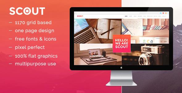 ThemeForest Scout OnePage Portfolio Template 10535878