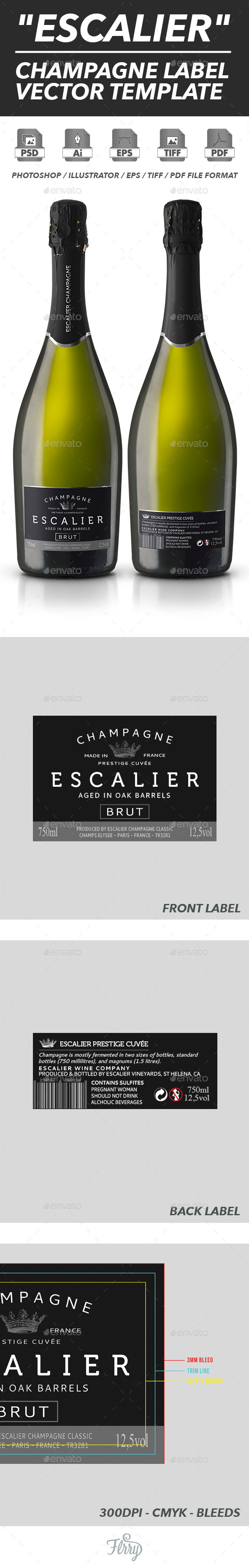 GraphicRiver Champagne Label Vector Template 10716444