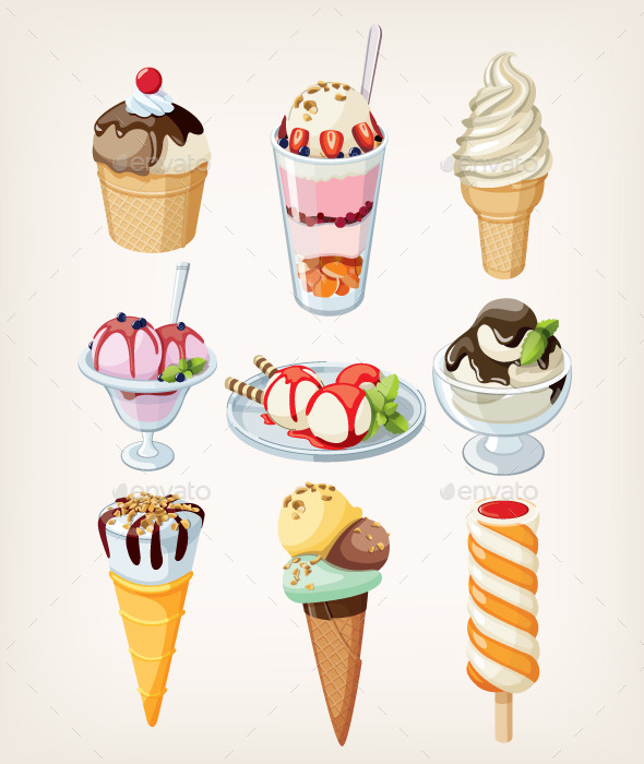 GraphicRiver Set of Ice Cream 10716738
