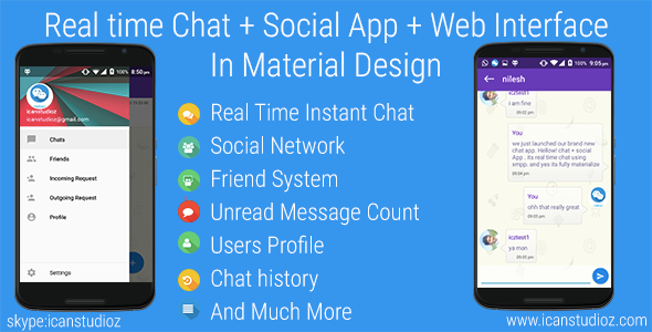 CodeCanyon Real Time Chat & Social System & Web Interface 10716754