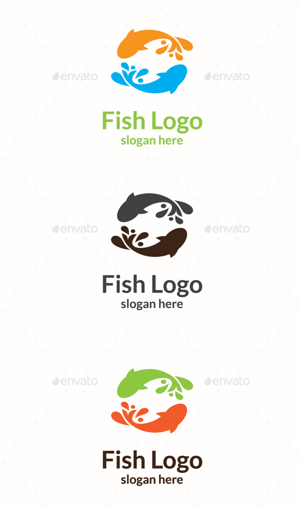 GraphicRiver Fish Logo 10717047