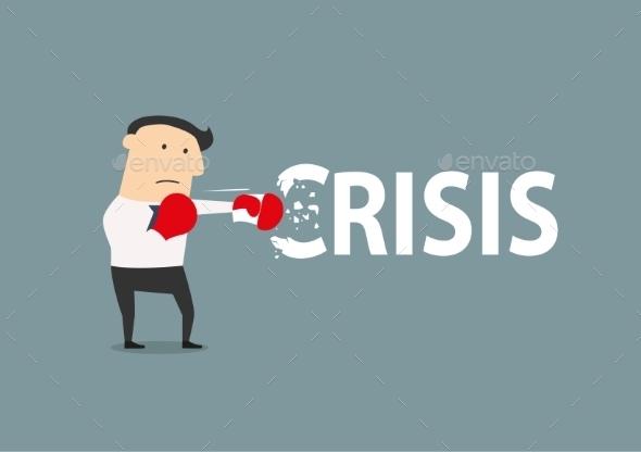 GraphicRiver Businessman Breaks the Crisis 10717050