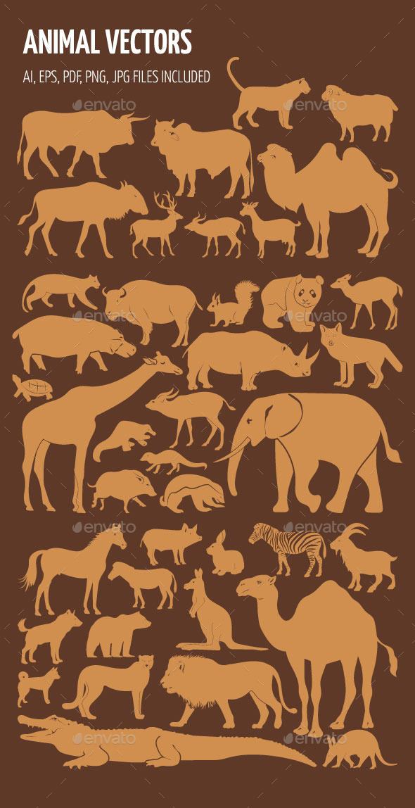 GraphicRiver Animal Silhouettes 10717141