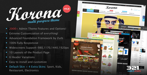 ThemeForest KORONA Multi-Purpose Responsive OpenCart Theme 10717199