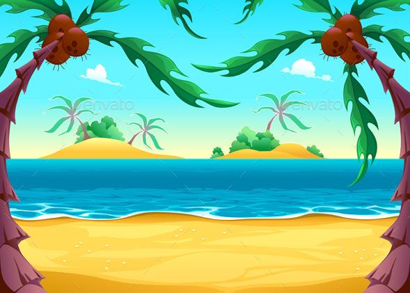GraphicRiver View on the Seashore 10717206