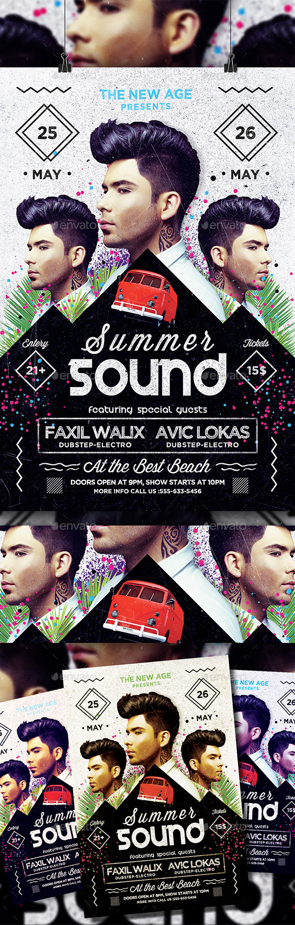 GraphicRiver Summer Sound Flyer 10658318