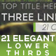 21 Elegant Lower Thirds Package - VideoHive Item for Sale