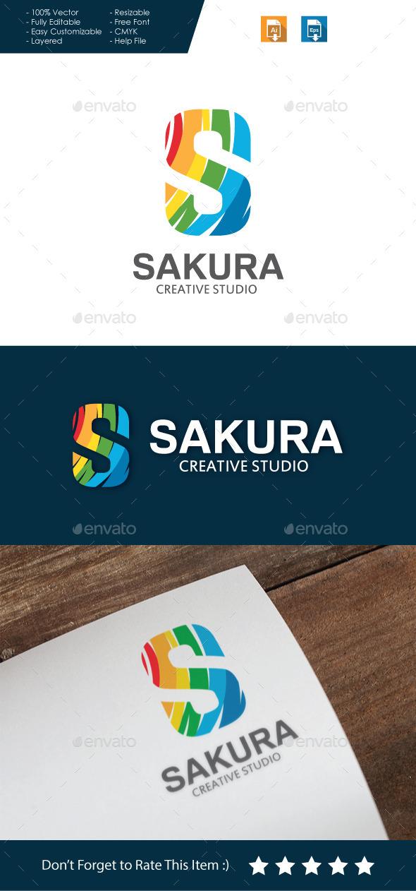 GraphicRiver Sakura Letter S Logo 10717367