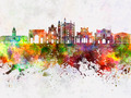 Parma skyline in watercolor background - PhotoDune Item for Sale