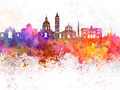 Messina skyline in watercolor background - PhotoDune Item for Sale