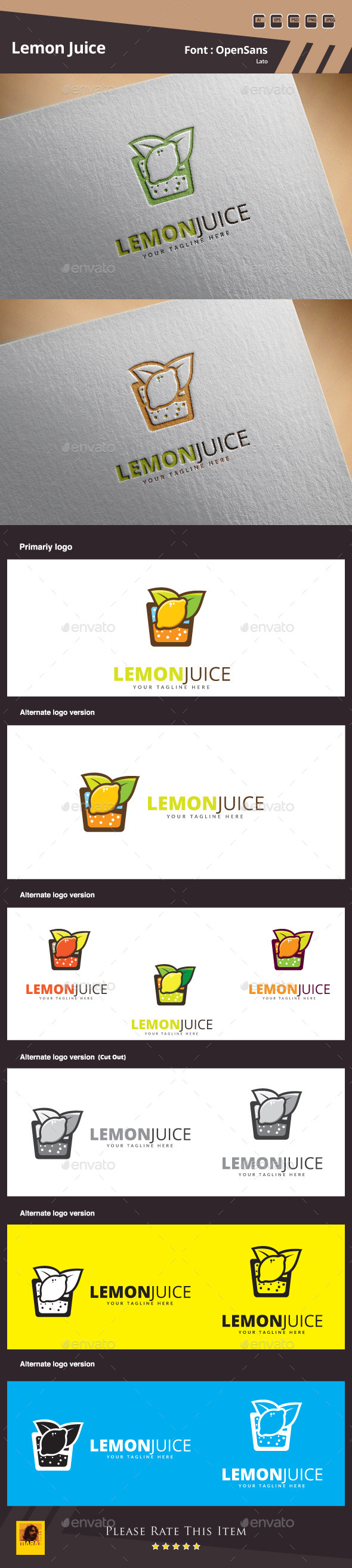 GraphicRiver Lemon Juice Logo Template 10717584