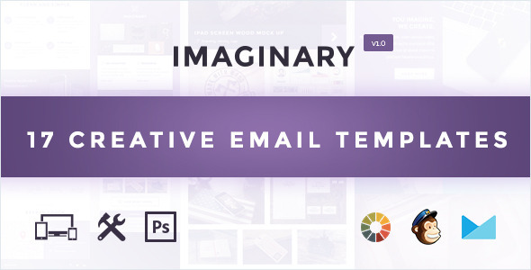 ThemeForest Imaginary Multipurpose Creative Email Template & Builder Access 10571741