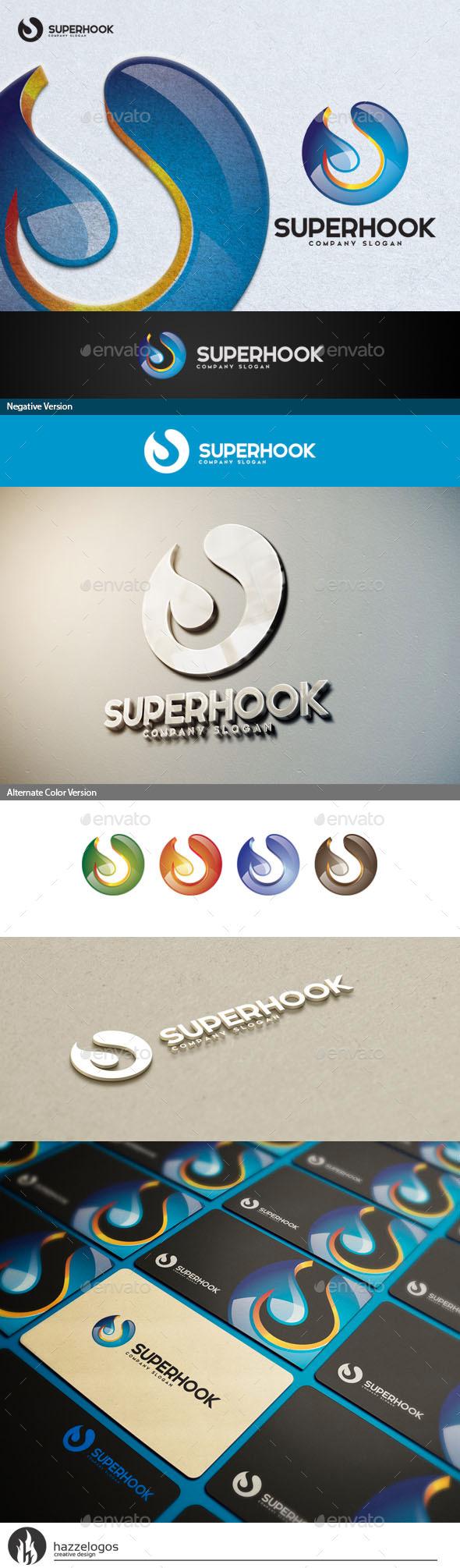 GraphicRiver Super Hook Logo 10717587